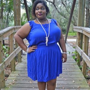 Simply Be Blue Tunic Dress